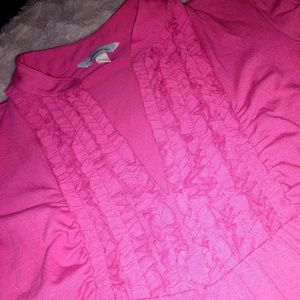 Pink cozy cotton dress